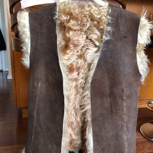 Shearling/Suade Vest